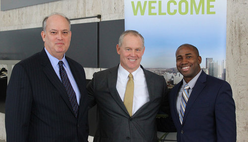 (L-R) The Allegheny Conference's Bill Flanagan, PA House Speaker Mike Turzai and the GPCC's Brandon Mendoza at the GPCC's First Friday Speaker Series.