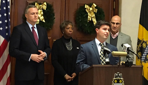 GPCC President Matt Smith joined AACCWP President Doris Carson-Williams, Pittsburgh Councilman Corey O'Conner and Pittsburgh Promise Executive Director Saleem Ghubril to announce a joint initiative to retain more local talent in the workforce.