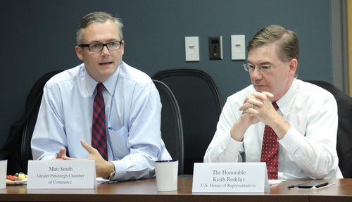 The GPCC hosted U.S. Congressman Keith Rothfus for a roundtable discussion to discuss shared regional priorities.