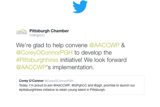 Greater Pittsburgh Chamber of Commerce Tweets on AACCWP